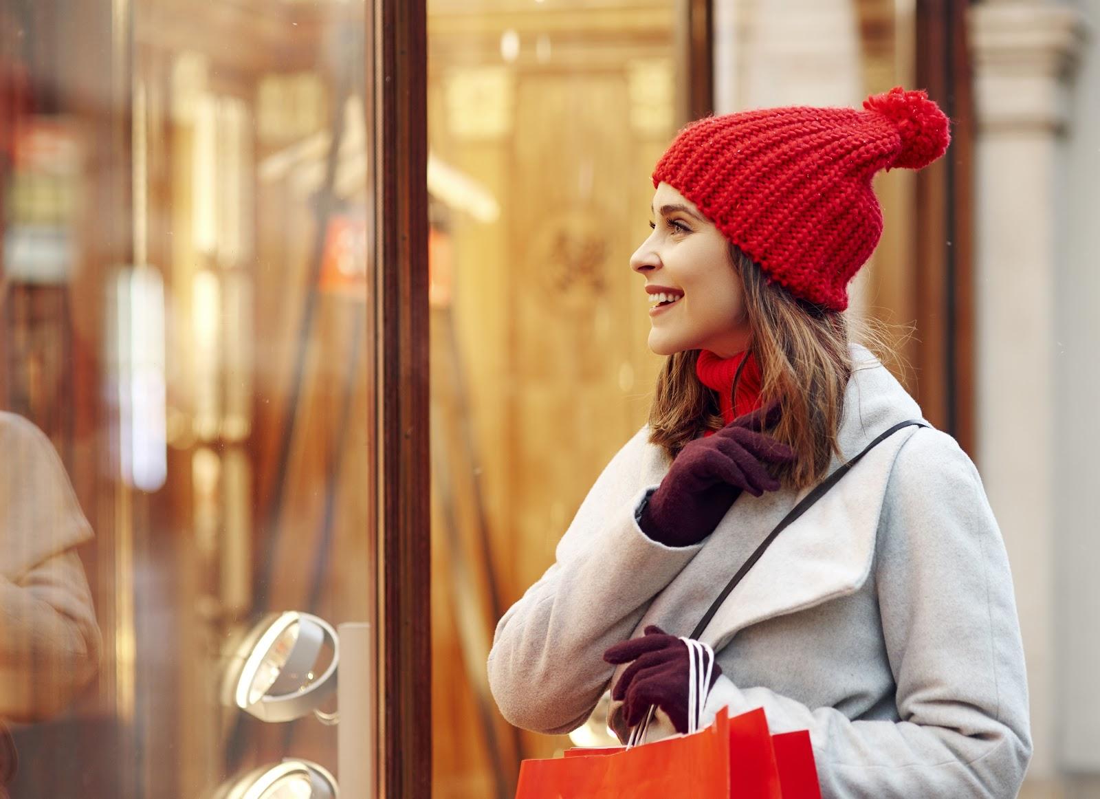 Decoração de loja de roupas vitrine