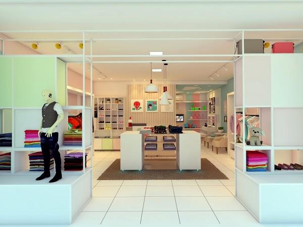 Decoração de loja infantil pequena