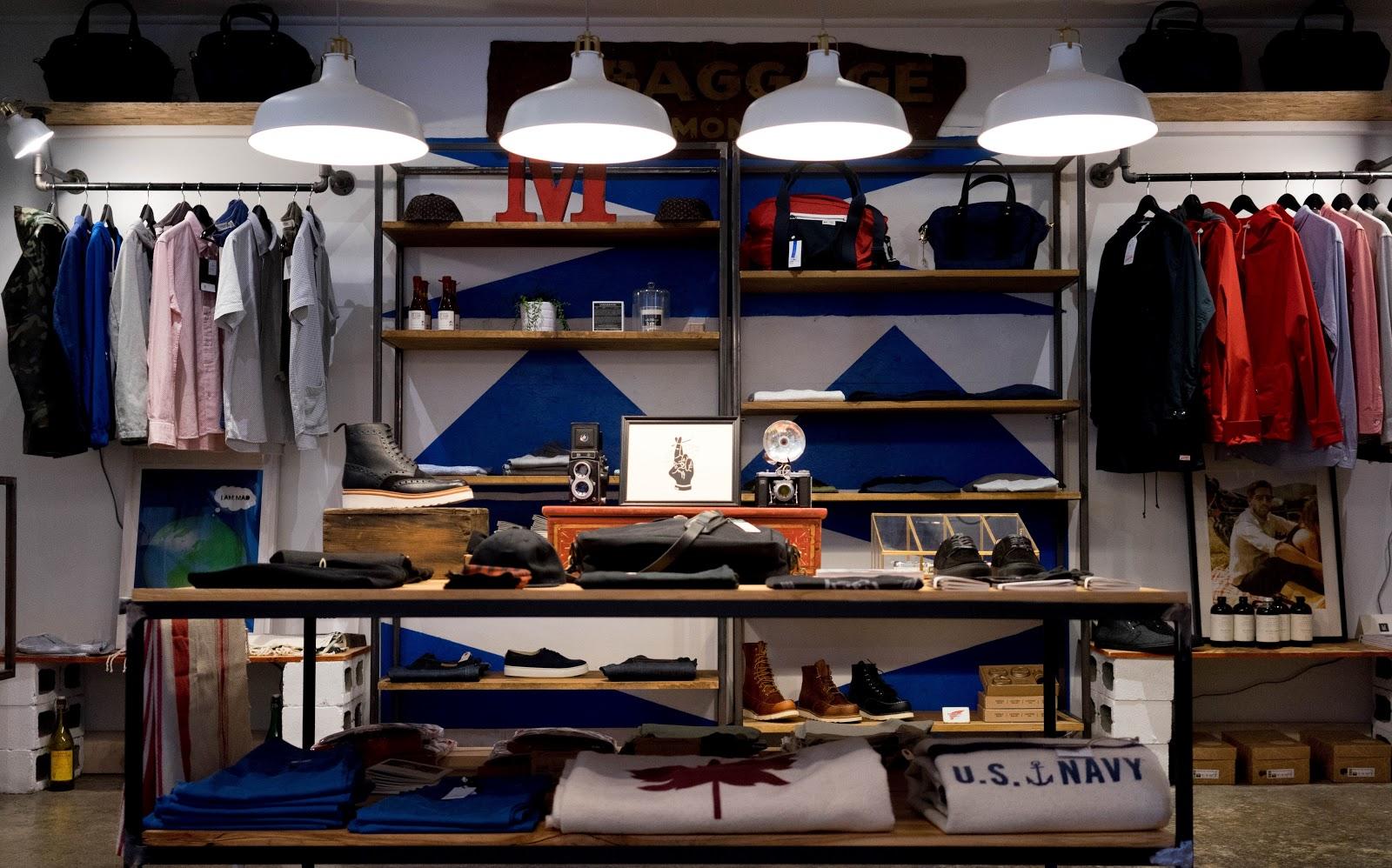Decoração de loja pequena masculina