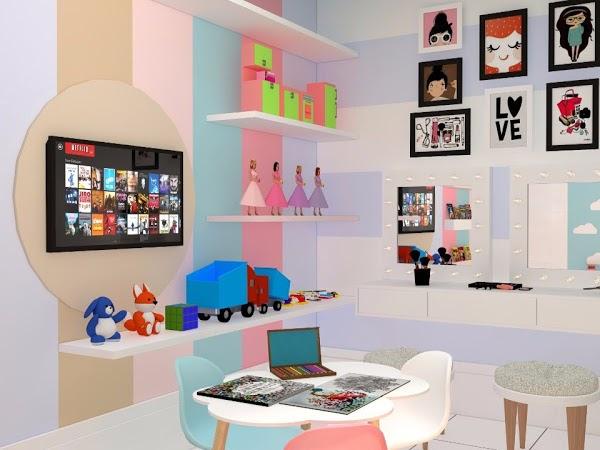 Decoração de loja infantil pequena criatividade