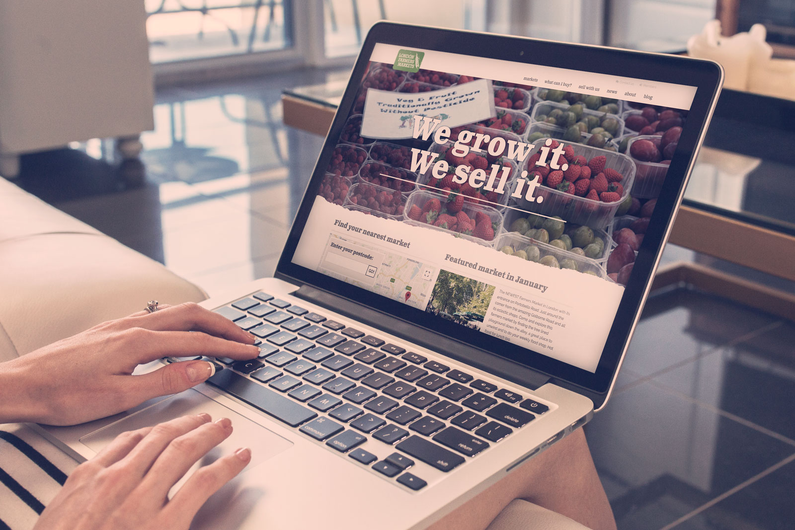 New website and user interface to locate farmers' markets in London
