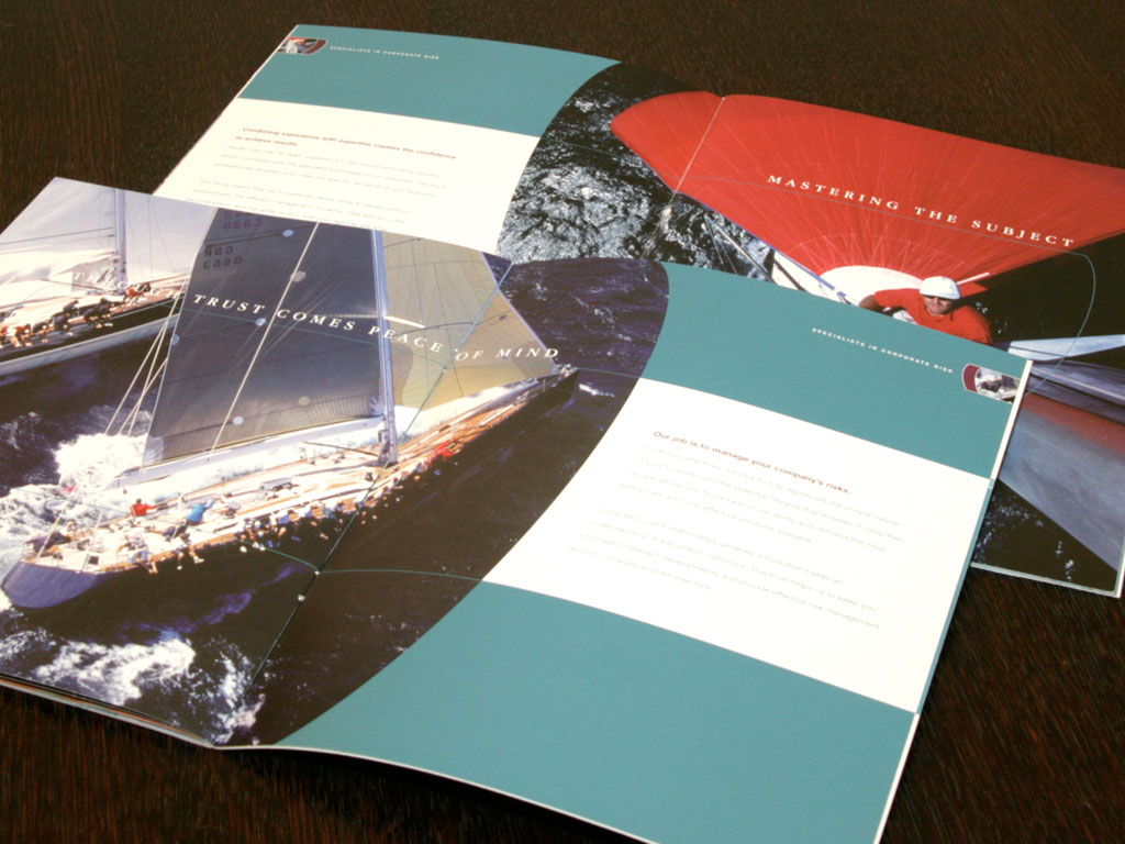 Brochure art direction and design for specialist insurance broker