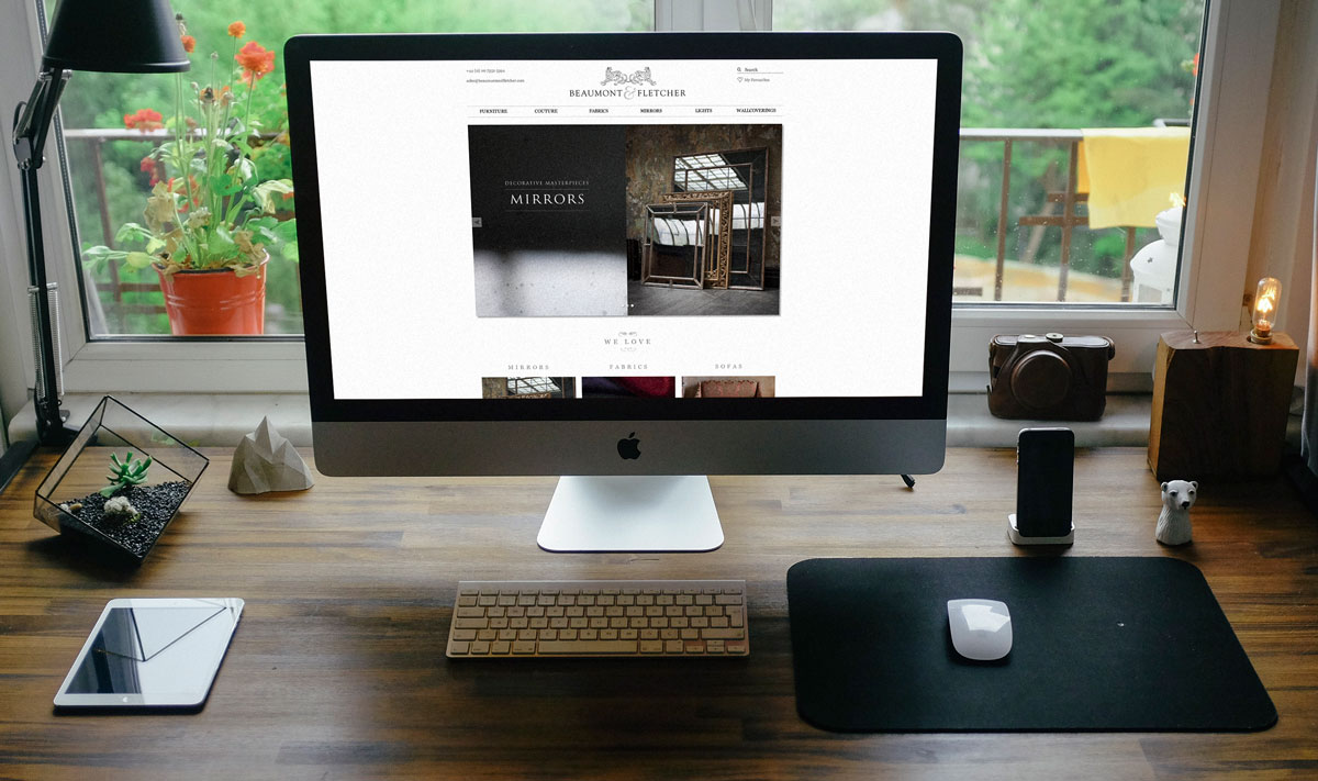 Revamped website for a luxury fabric maker