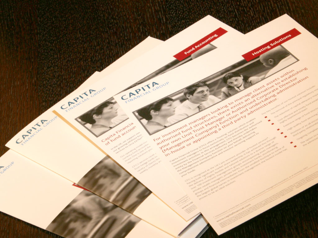 Modular marketing materials for outsourcing specialists