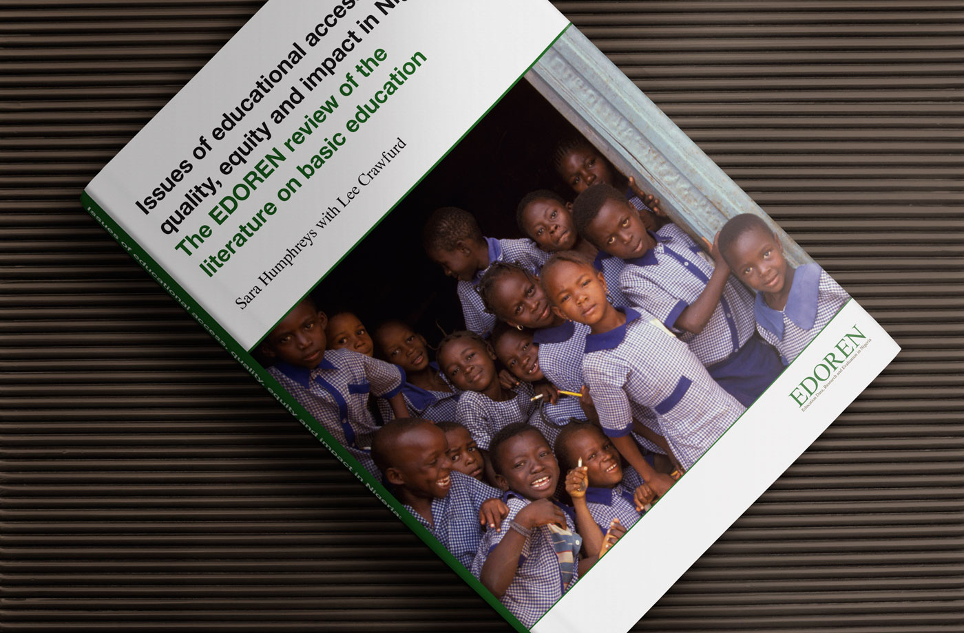 Book design for an educational review of Nigeria