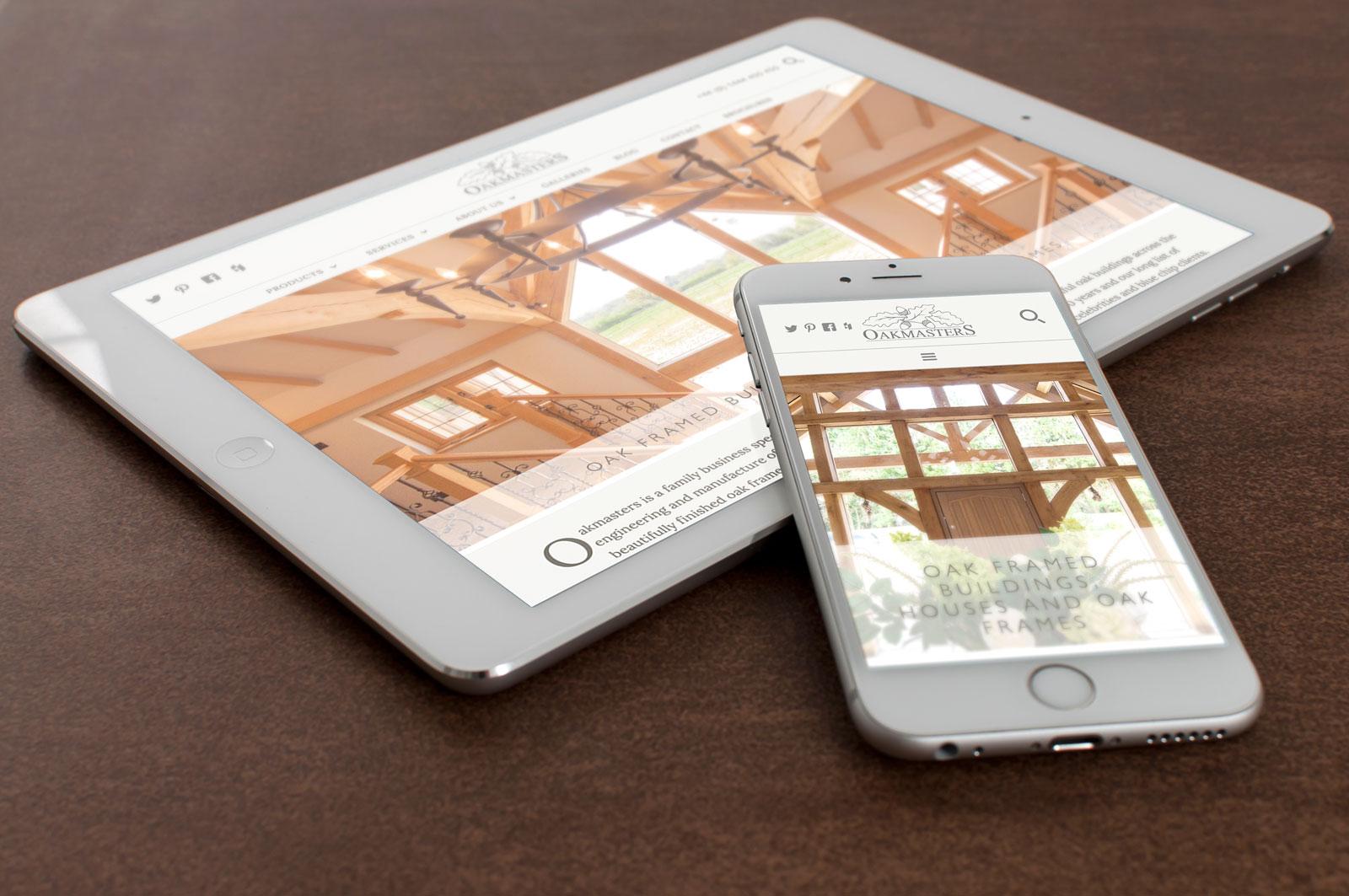 Redesigned website for oak frame specialists