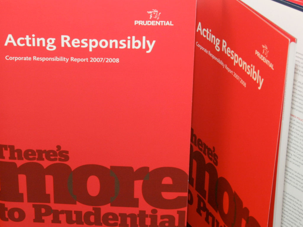 CSR report for a leading financial services institution