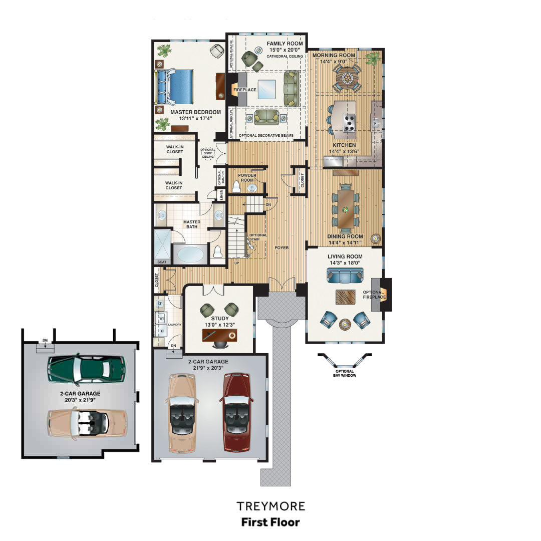Haverford Reserve Floorplan 1st Floor