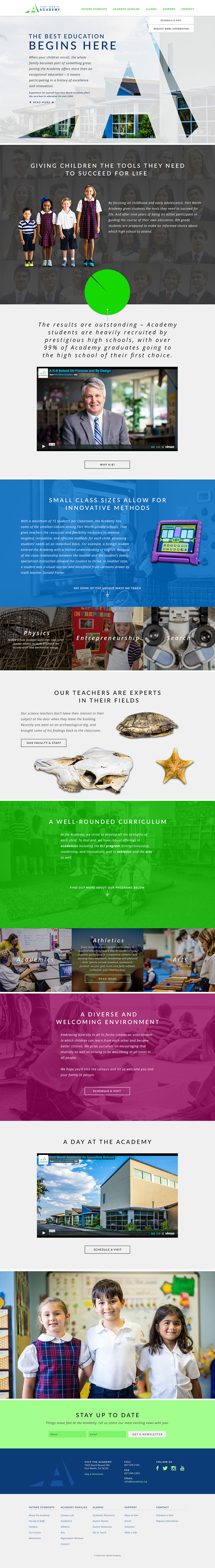 Fort Worth Academy Mobile Responsive Website