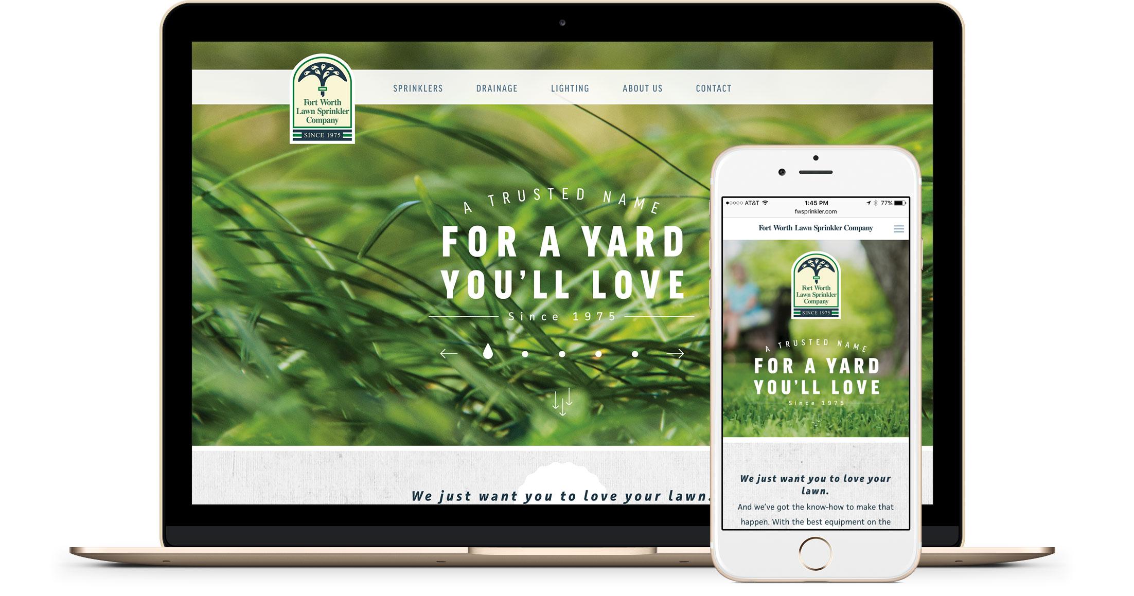 Fort Worth Lawn Sprinkler Mobile Responsive Website