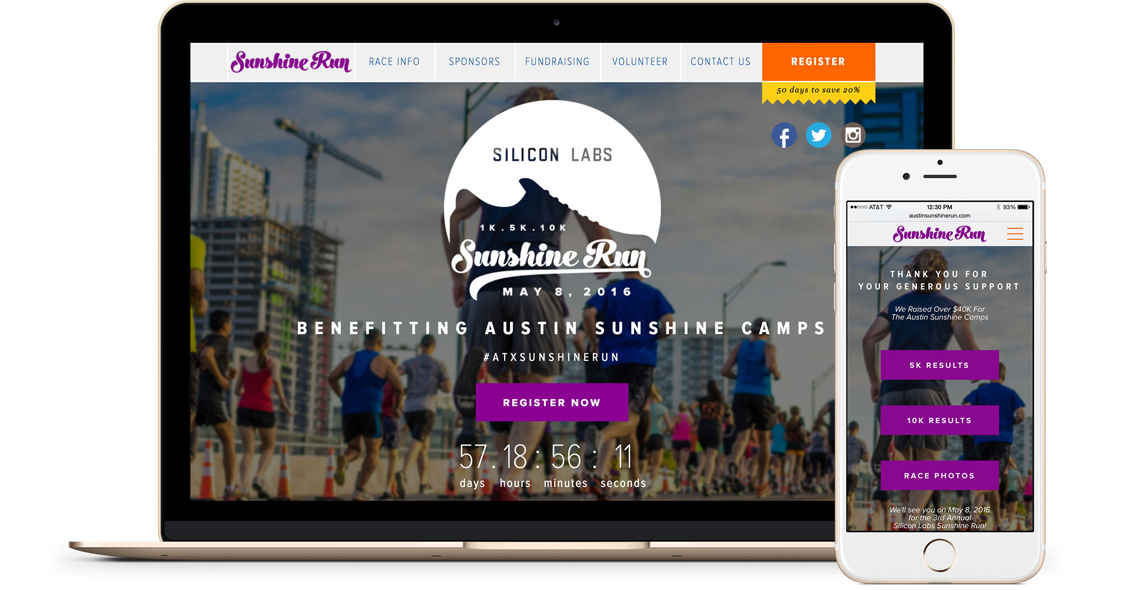 Sunshine Run Mobile Responsive Website Design