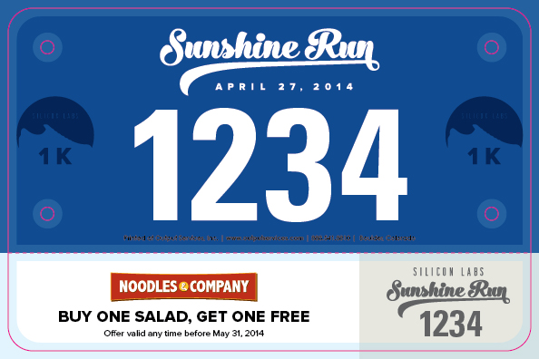 Sunshine Run Bib Design