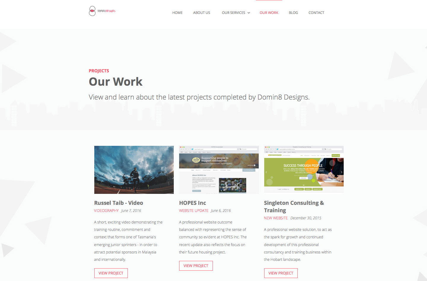 our work page