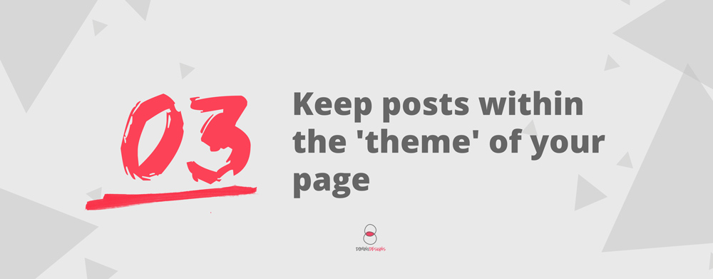 keep posts within the theme of your page