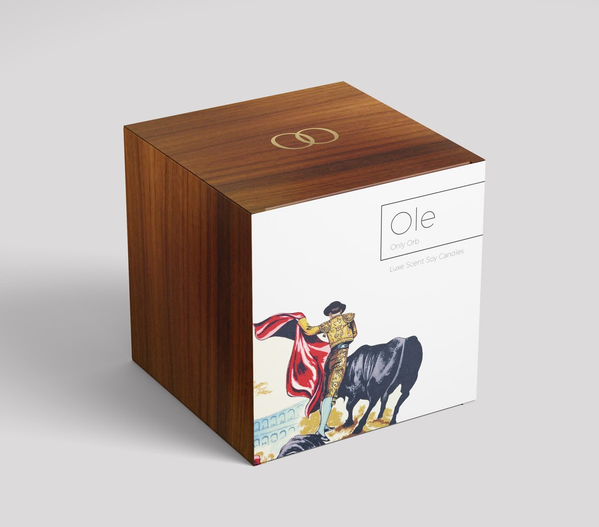 Box visualisation with bull for Ole candle
