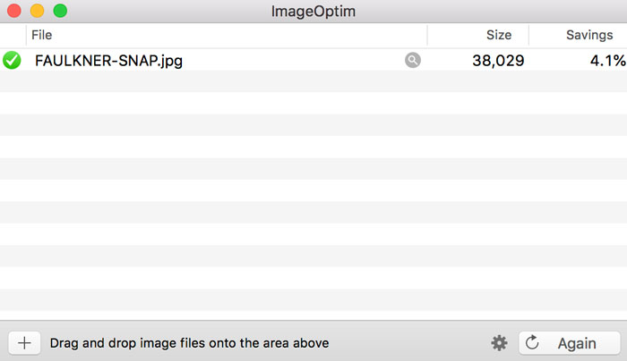 View of ImageOptim program