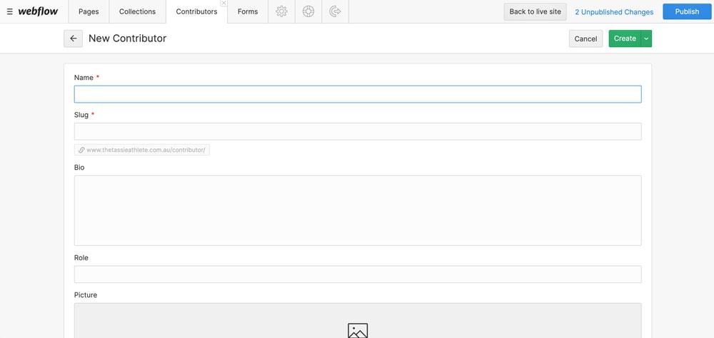 webflows cms editor
