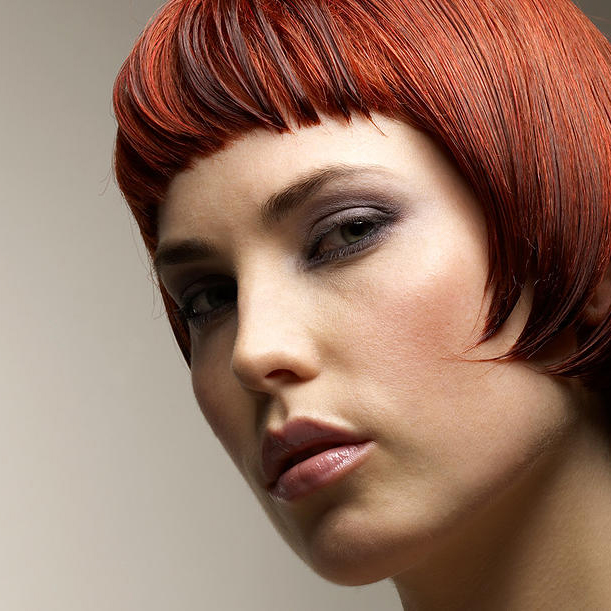 Woman with a stylish haircut