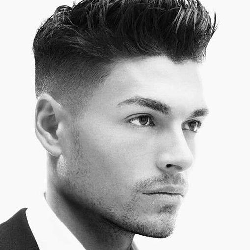 Man with a stylish haircut