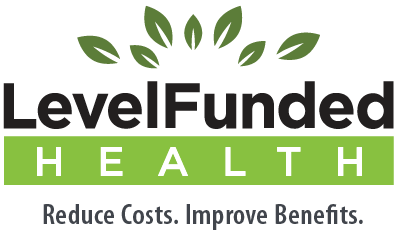 Level Funded Health logo. Reduce costs. Improve Benefits.
