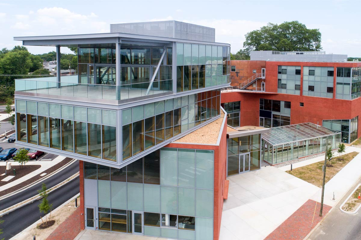 exterior of one of M&E's projects at J Sargent Reynolds Community College Culinary Arts