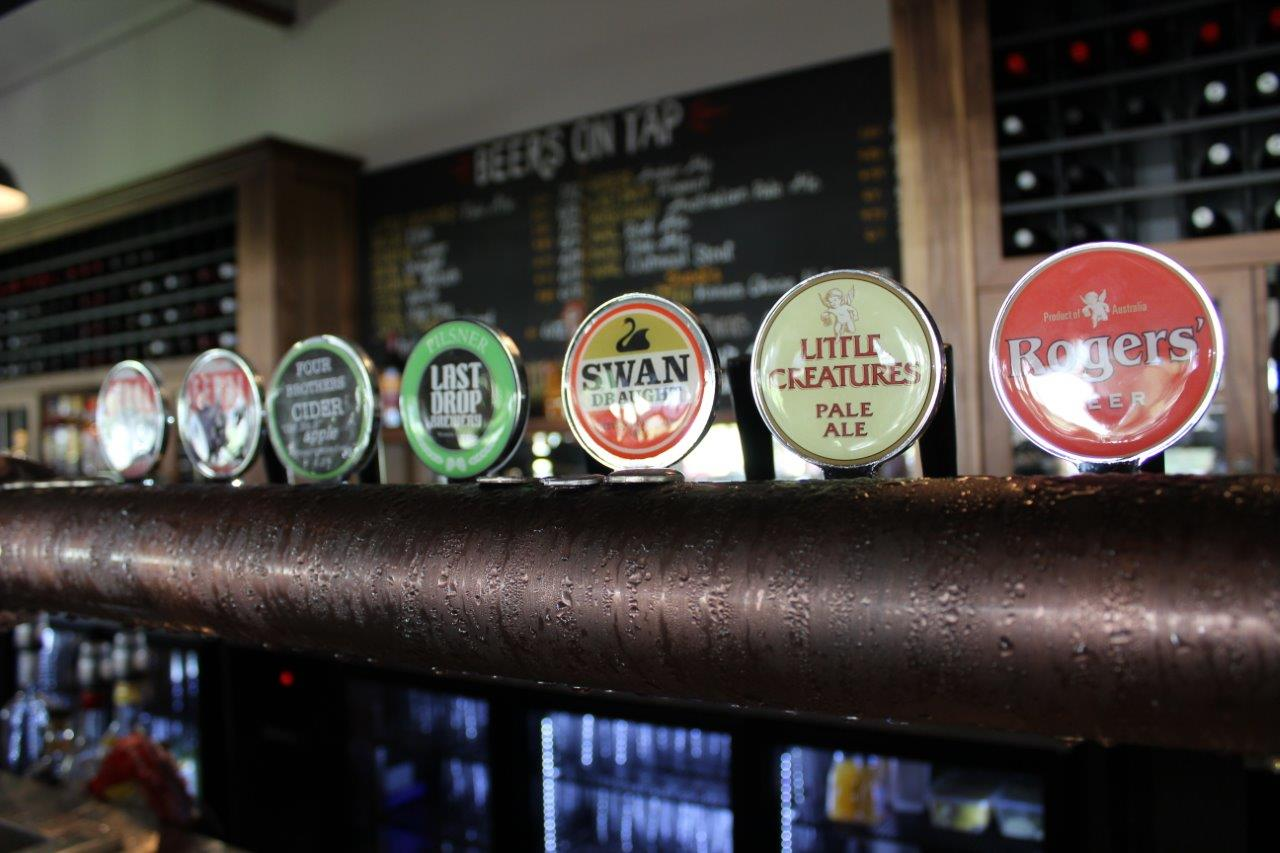 Local Perth beers at The Hen