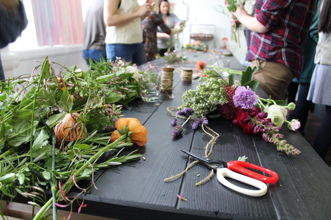 Floral Herbal Posy workshop Perth Creative co.