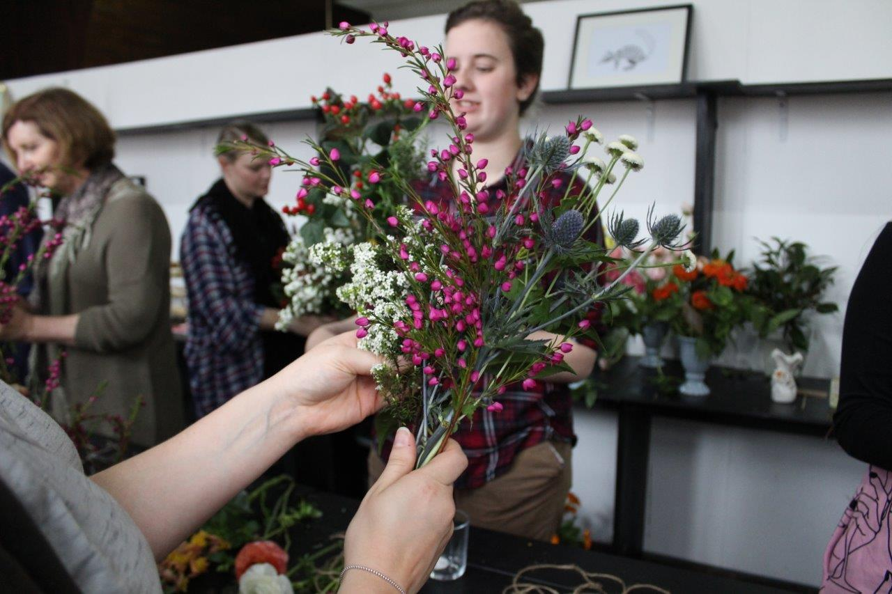 Perth creative co. posy arranging