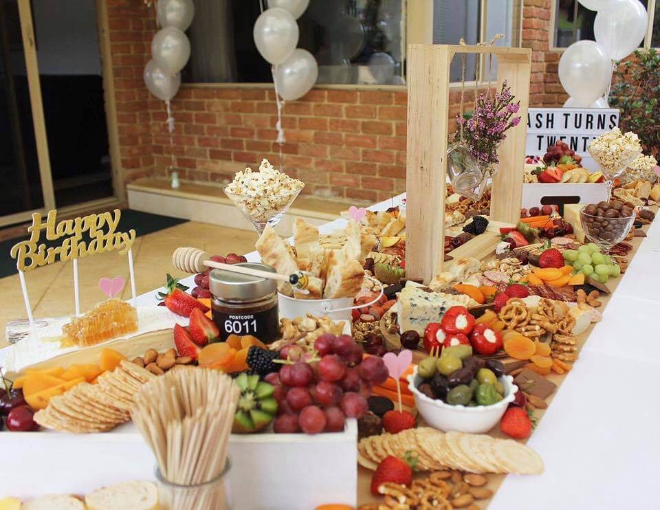 Showstopper grazing table - Tapas Addict Perth
