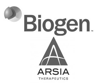 Biogen Logo and Arsia Therapeutics Logo