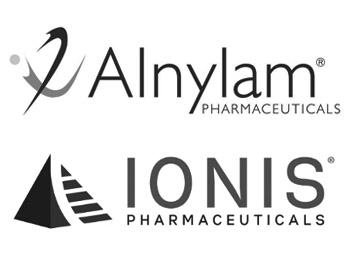 Alnylam Logo and Ionis Logo