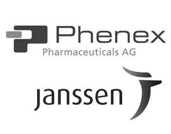 Phenex Pharmaceuticals Logo and Janssen Logo
