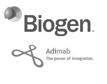 Biogen Logo and Adimab Logo