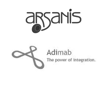 Arsanis Logo and Adimab Logo