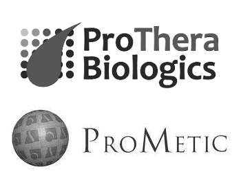ProThera Biologics Logo and ProMetic Life Sciences Logo