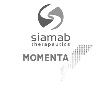 Siamab Therapeutics Logo and Momenta Pharmaceuticals Logo