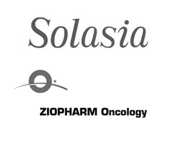 Solasia Pharma Logo and ZIOPHARM Oncology Logo