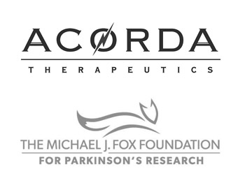 Accorda Therapeutics Logo and Michael J. Fox Foundation Logo