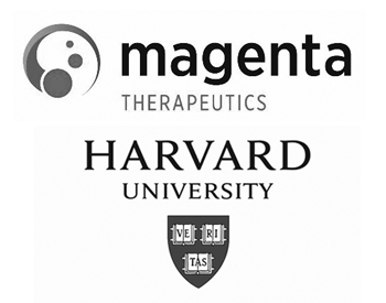 Magenta Therapeutics Logo and Harvard University Logo