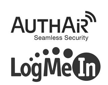 AuthAir Logo and LogMeIn Logo