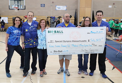 Big check from BioBall for the record-breaking amount of money donated, over half a million dollars