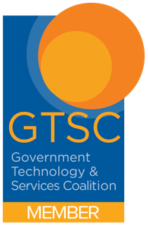 GTSC Member Logo, a blue rectangle with an orange circle