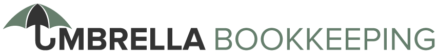 vector logo of umbrella bookkeeping