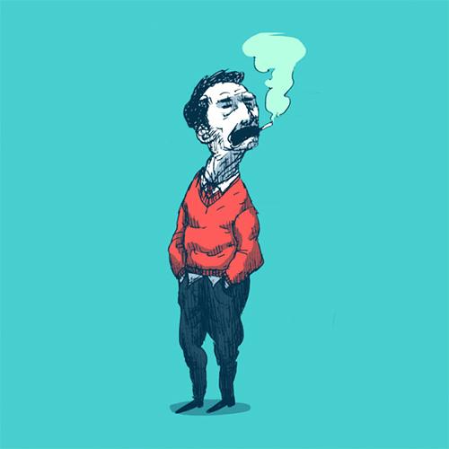 'Smoke Break' art print by Christian Gilbang