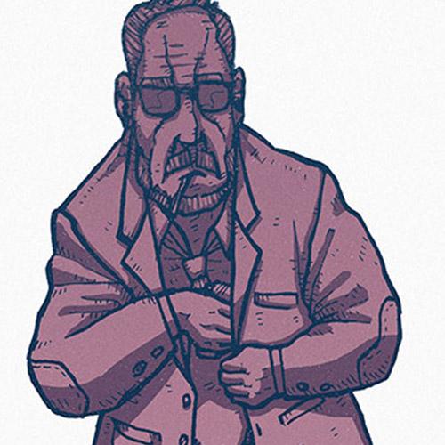 'Old Man' art print by Christian Gilbang