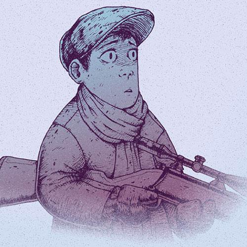 'Winter Hunt - Shot' art print by Christian Gilbang