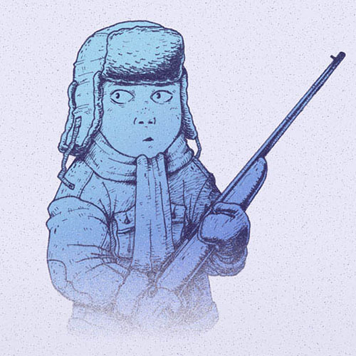 'Winter Hunt - Track' art print by Christian Gilbang