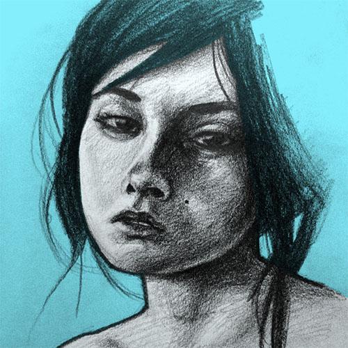 'Girl' art print by Christian Gilbang