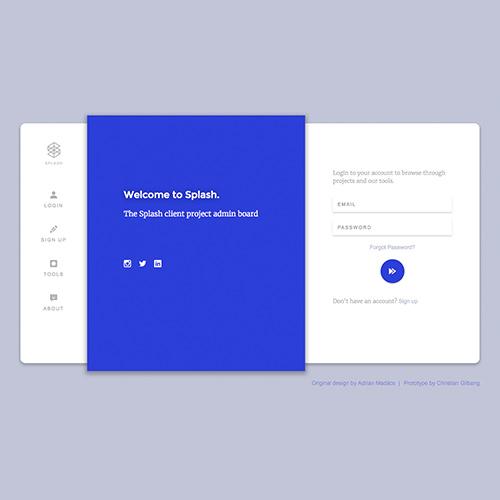 Image of Admin Dashboard Prototype by Christian Gilbang