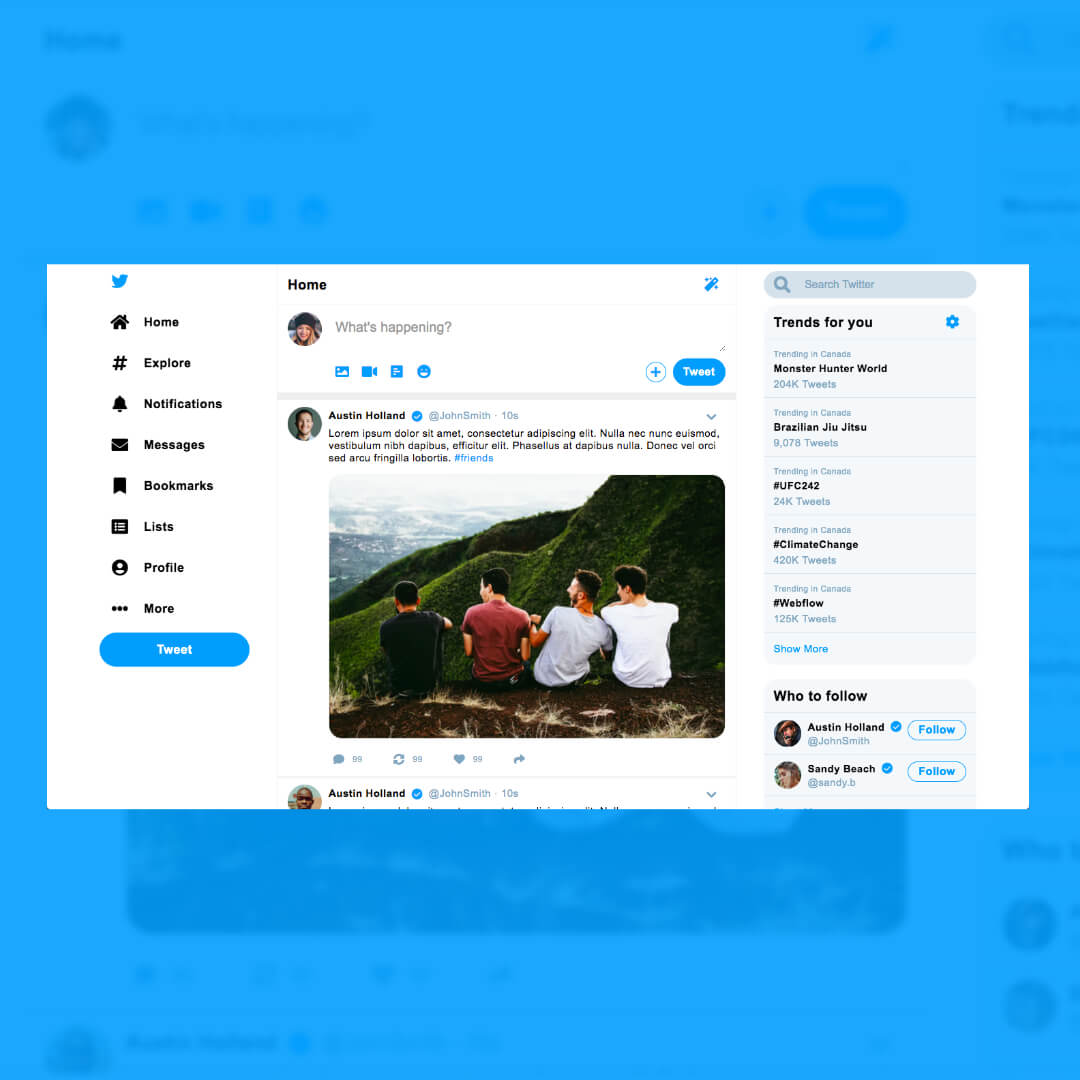 Image of Twitter Prototype by Christian Gilbang